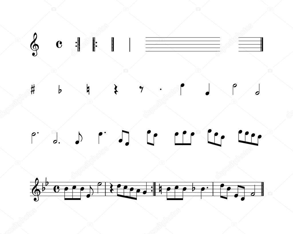 Conjunto de Símbolos Musicales