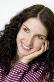 Beautiful young woman smiling — Stock Photo