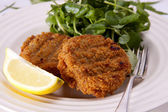 Homemade fishcakes. — Stock Photo