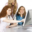 Stock Photo: Girls at office