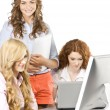 Girls at office — Stockfoto #6455880