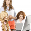 Stockfoto: Girls at office