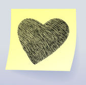 Coração de doodle — Vetorial Stock