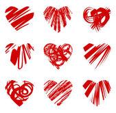 Grunge hjärtan — Stockvektor