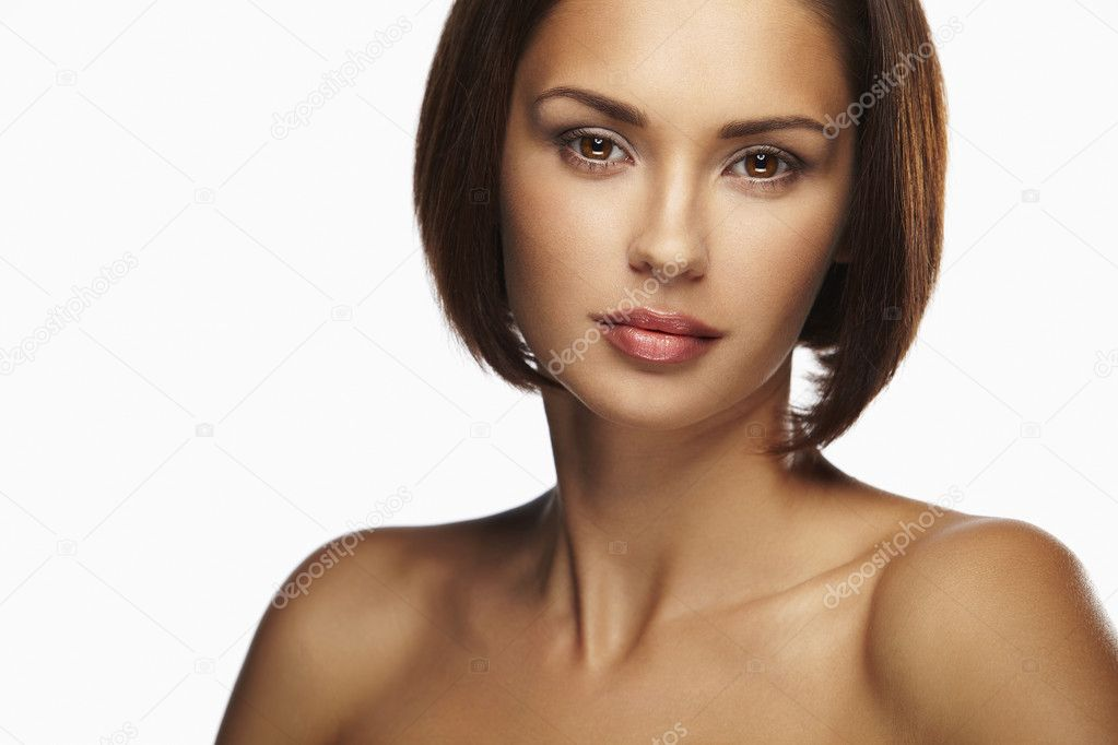 Beautiful caucasian women with brown hair  Stock Photo #6313598