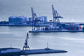 View of the port of loading — Stock Photo