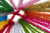Colored ribbons of the party — Stock Photo