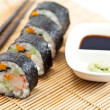 Stock Photo: Sushi Roll with soy sauce