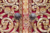 Thai carved doors — 图库照片