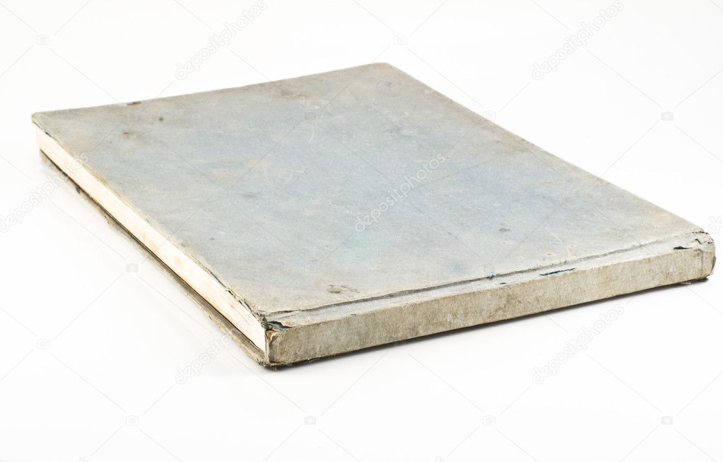 Old blue notebook isolated on white background — Stock Photo #6339179
