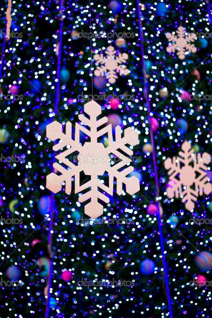 Abstract christmas light with snow — Stock Photo #6339249