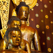 Golden Buddha Images of Northern Thailand. - Stock Photo