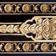 Thai style wood carving - Stock Photo