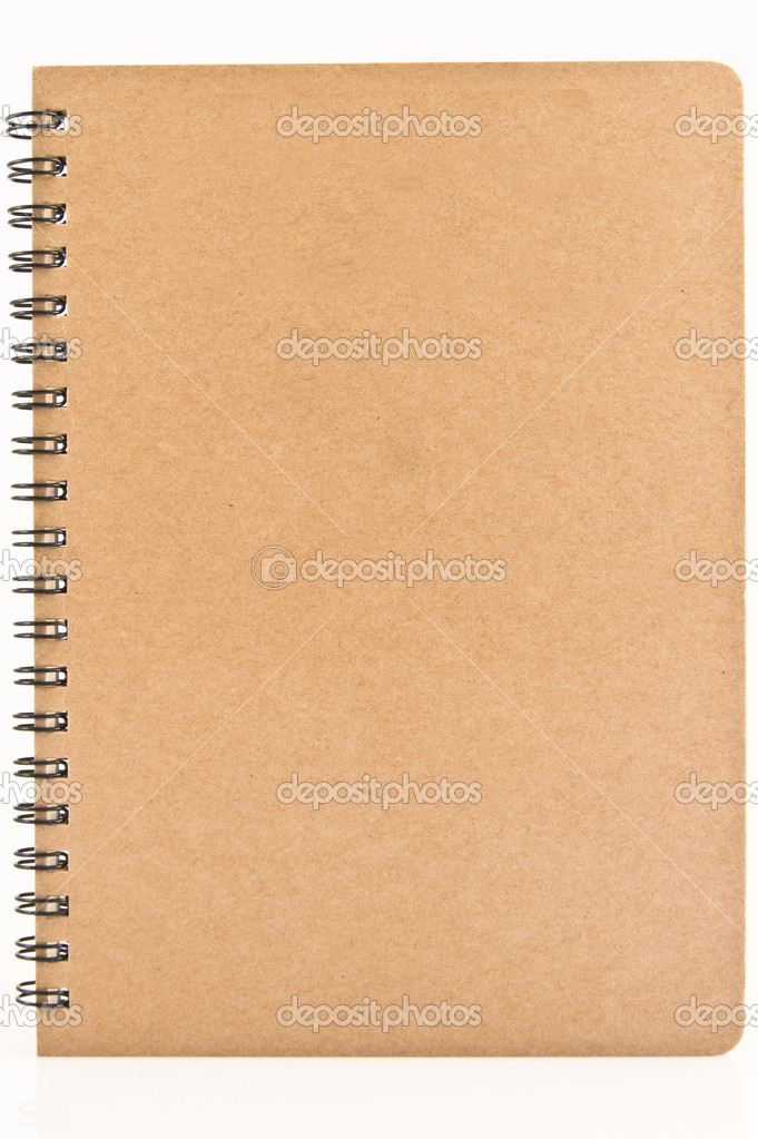 Brown plain closed notebook isolated — Photo #6340396