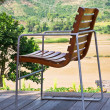 Relaxing chair on the balcony - Stock Photo