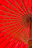 North thailand traditional red umbrella — Stock Photo