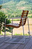Cadeira relaxante na varanda — Foto Stock