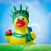 Duck of liberty — Stock Photo