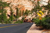 The road sign in Zion — Stock Photo