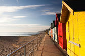 Stranden hyddor — Stockfoto