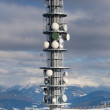 Communication antenna tower — Stock Photo