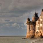 Kloster Mont Saint-Michel in der Bretagne, Frankreich — Stockfoto