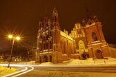 St. Anne's Church in the night, Vilnius — Photo