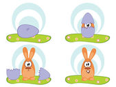 Easters egg - easters rabbit — Stock Vector