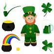 St. Patricks Day clip-art — Stock Vector