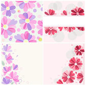 Four floral pattern — Stock Vector