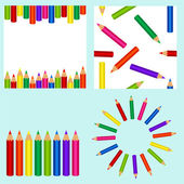 Set with pencil — Stock Vector