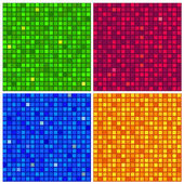 Four seamless background with mosaic texture — Stock Vector