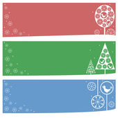 Winter banners — Stock Vector