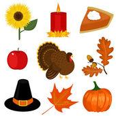 Thanksgiving day clip-art — Stock Vector