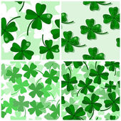Seamless with shamrock — Stock Vector