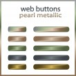 Stock Vector: Web buttons - Pearl, Metal vector