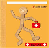 Sticking plaster Figure — Stock vektor