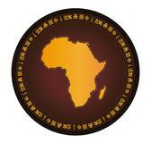 Africa globe frame vector map — Stock Vector