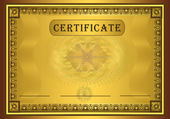 Certificate gold, frame vector — Stock Vector