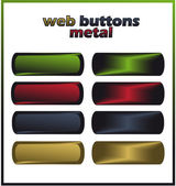 Web buttons - metal vector template — Stock Vector