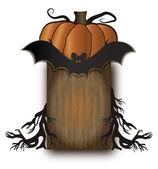 Tablero de madera de halloween — Vector de stock