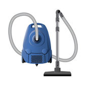 Blue vacuum cleaner — Stock Vector