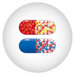 Set of capsules — Stock Vector