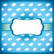 Retro card with clouds - Imagen vectorial