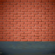 Brick wall on the street — Stock Vector