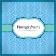 Royalty-Free Stock Vector Image: Blue vintage lace card