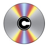 Copyright marked CD — Stock Vector