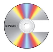 CD shaped as copyright sign — Stock Vector