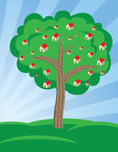 Houses growing on tree — Stock Vector