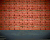 Brick wall on the street — Stock Vector